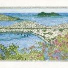 Magens Bay St. Thomas US Virgin Islands original art print by Kathy Johnston