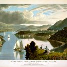 West Point from above Washington Valley engraving 1834 art print by W.J. Bennett