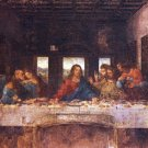 The Last Supper Christian Jesus Apostles Canvas art print by Da Vinci