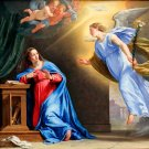 The Annunciation of Mary Christian canvas art print by De Champaigne