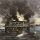 Fort Sumter Bombardment Charleston Harbor Civil War canvas art print