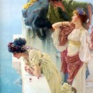 A Coign of Vantage 1895 women victorian canvas art print by Lawrence Alma Tadema