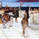 A Dedication to Bacchus 1889 people Victorian canvas art print by Lawrence Alma Tadema