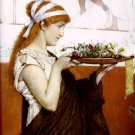 A Votive Offering Detail 1873 young woman girl  Victorian canvas art print by Lawrence Alma Tadema