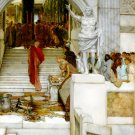After the Audience 1879 Victorian canvas art print by Lawrence Alma Tadema