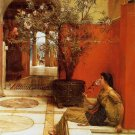 An Oleander 1882 Victorian canvas art print by Lawrence Alma Tadema