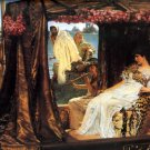 Antony and Cleopatra 1883 couple woman man Victorian canvas art print by Lawrence Alma Tadema