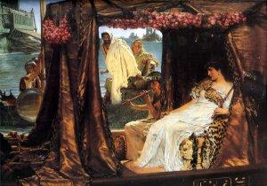 Antony and Cleopatra 1883 couple woman man Victorian canvas art print by Lawrence Alma Tadema