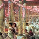 Caracalla and Geta 1909 Victorian canvas art print by Lawrence Alma Tadema