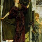 Not at Home 1879 Victorian canvas art print by Lawrence Alma Tadema