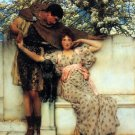 Promise of Spring 1890  Couple Victorian canvas art print by Lawrence Alma Tadema