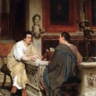 The Discourse Victorian people canvas art print by Lawrence Alma Tadema