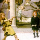 The Education of the Children of Clovis Victorian canvas art print by Lawrence Alma Tadema