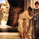 The Frigidarium 1890 Victorian canvas art print by Lawrence Alma Tadema