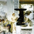 The Sculpture Gallery 1874 Victorian canvas art print by Lawrence Alma Tadema