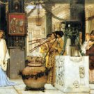 The Vintage Festival 1870  Victorian canvas art print by Lawrence Alma Tadema