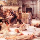 The Women of Amphissa 1887 Victorian canvas art print by Lawrence Alma Tadema