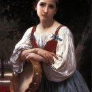 Bohemienne au Tambour de Basque 1867 girl canvas art print by William Adolphe Bouguereau