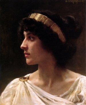 Irène 1897 young woman portrait canvas art print by William Adolphe Bouguereau