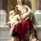 La Charité 1878 canvas woman babies art print by William Adolphe Bouguereau