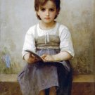 La leçon difficile 1884 girl child canvas art print by William Adolphe Bouguereau