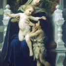 La Vierge Jesus Saint Jean Baptiste canvas art print by Bouguereau
