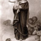Notre-Dame des Anges Christian bible canvas art print by Bouguereau