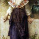 Un moment de repos 1900 child girl canvas art print by William Adolphe Bouguereau