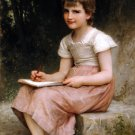 Une vocation 1896 child girl canvas art print by William Adolphe Bouguereau
