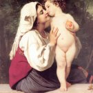 Le Baiser 1863 The Kiss woman and child canvas art print by William Adolphe Bouguereau