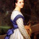 La Comtesse de Montholon woman portrait canvas art print by William Adolphe Bouguereau