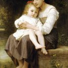 La soeur aînée Big sis' 1886 Child canvas art print by William Adolphe Bouguereau