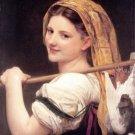 Le retour du marché 1869 Returned from the market canvas art print by William Adolphe Bouguereau