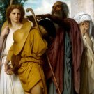 Tobias Saying Goodbye to his Father canvas art print by Bouguereau