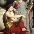 L'art et la Litterature 1867 Art and Literature canvas art print by William Adolphe Bouguereau