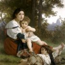 Le Repos 1879 Rest canvas art print by William Adolphe Bouguereau