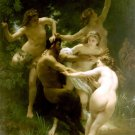 Nymphes et Satyre, Nymphs and Satyr women canvas art print by William Adolphe Bouguereau
