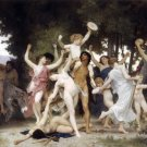 La Jeunesse de Bacchus 1884 The Youth of Bacchus canvas art print by Bouguereau
