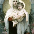 The Madonna of the Roses Christian canvas art print by Bouguereau