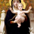 La Vierge au Lys Virgin of the Lilies canvas art print by Bouguereau