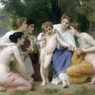L'admiration 1897 Admiration women canvas art print by William Adolphe Bouguereau