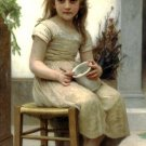 Le Goûter 1895 Just a Taste girl child canvas art print by William Adolphe Bouguereau