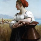 Moissonneuse 1868 The Harvester woman canvas art print by William Adolphe Bouguereau