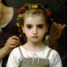 Parure des Champs 1884 The Jewel of the Fields girl canvas art print by William Adolphe Bouguereau