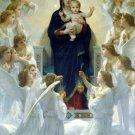 Regina Angelorum Christian Jesus bible canvas art print by Bouguereau