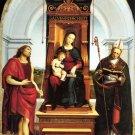Ansidei Madonna Christian Jesus bible canvas art print by Raphael