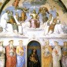 Holy Trinity with Saints religious Christian canvas art print Raphael