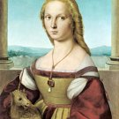 Lady with a Unicorn about 1505 woman portrait canvas art print by Raphael