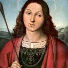 Saint Sebastian 1502 religious Christian canvas art print by Raphael