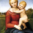 Small Cowper Madonna religious Christian canvas art print by Raphael